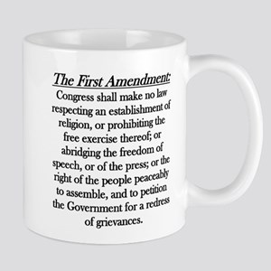 First Amendment Large Mugs